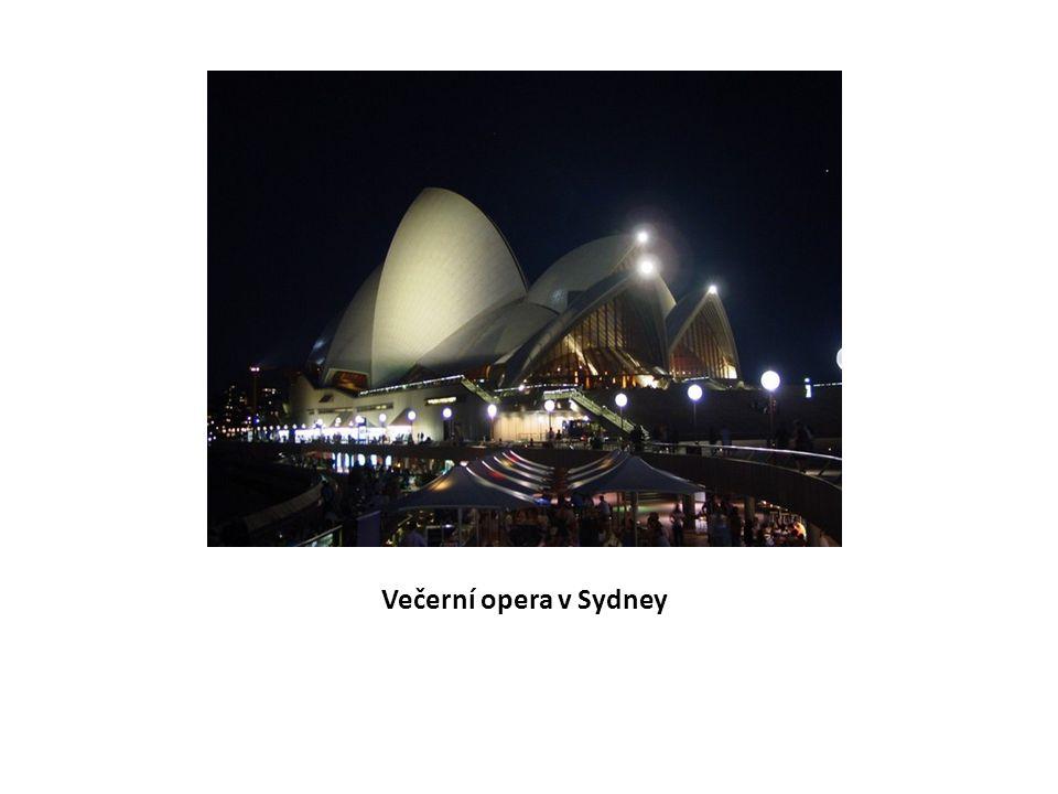 Večerní opera v Sydney