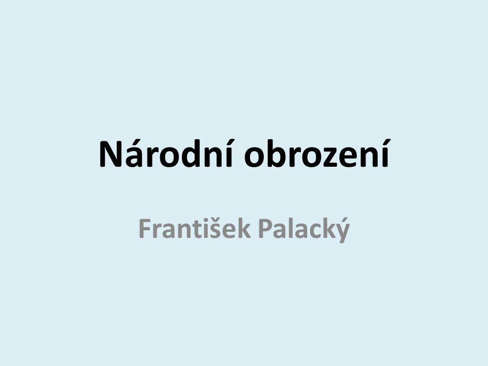 Národní obrození František Palacký