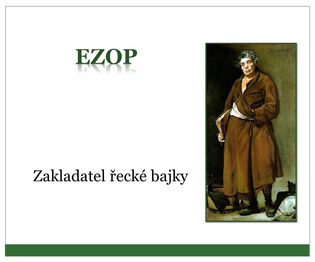 Zakladatel řecké bajky