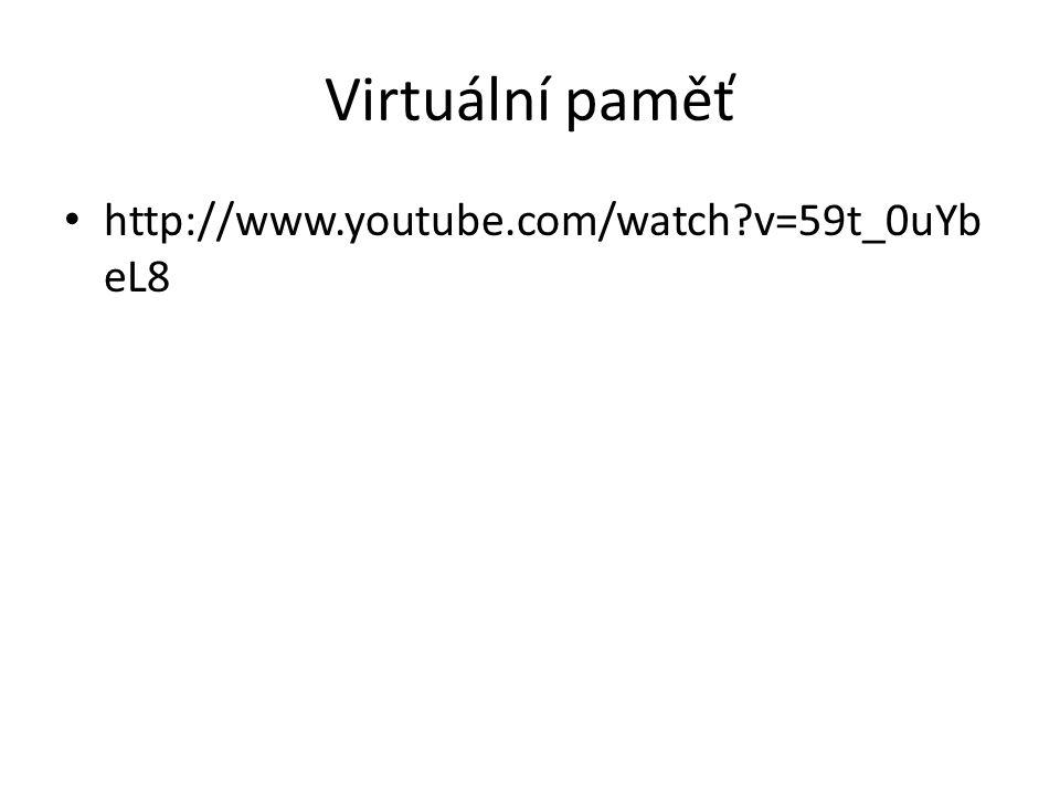 Virtuální paměť http://www.youtube.com/watch?v=59t_0uYb eL8