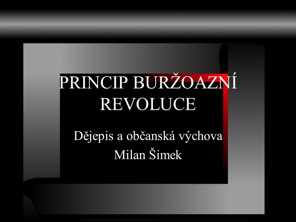 PRINCIP BURŽOAZNÍ REVOLUCE Dějepis a občanská výchova Milan Šimek
