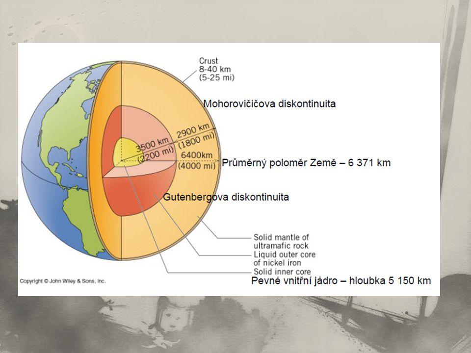 Kontinentální kůra spodní vrstva – ………..minerály (hustota, barva) svrchní vrstva – ………..
