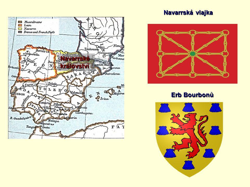 Navarrskékrálovství Navarrská vlajka Erb Bourbonů