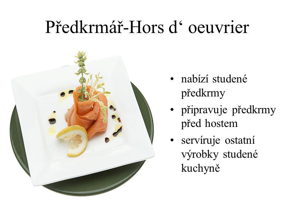 Sommelier ručí za správný servis nápojů používá nabídkový vozík zná gastronomická pravidla zná vhodnou návaznost pokrmů odborník v nápojové gastronomi