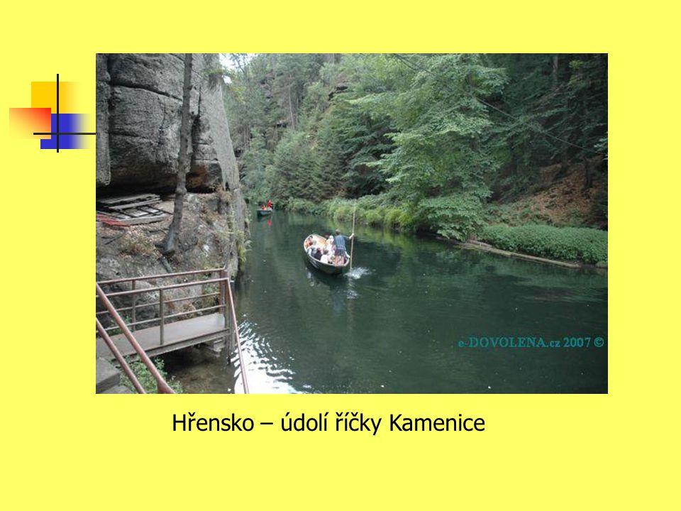 Hřensko – údolí říčky Kamenice
