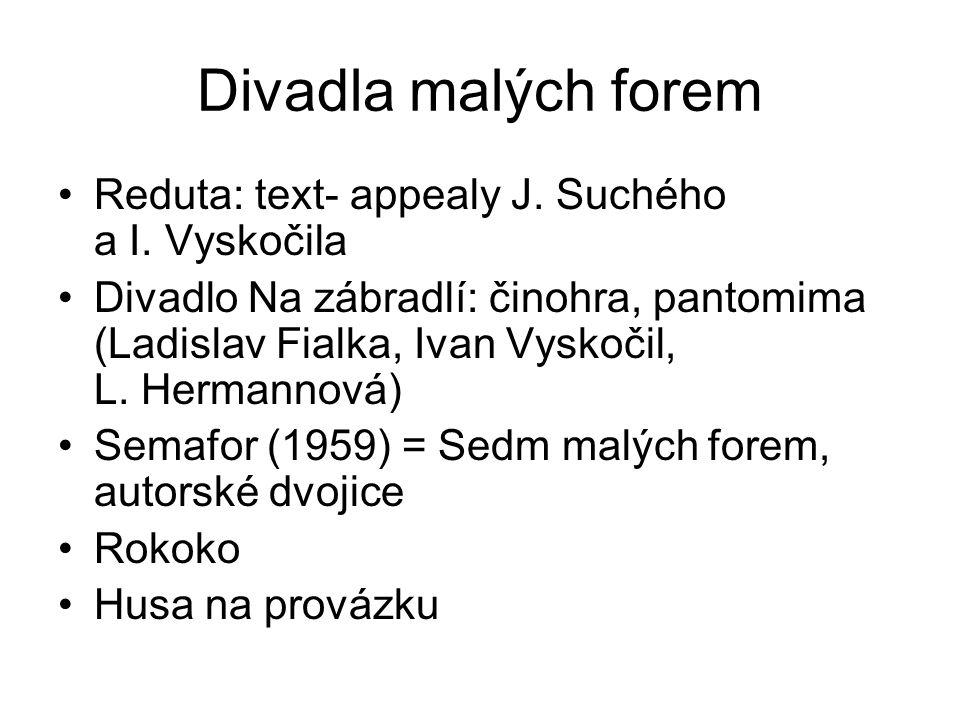 Divadla malých forem Reduta: text- appealy J. Suchého a I.