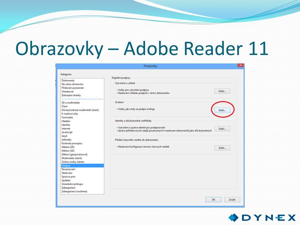 Obrazovky – Adobe Reader 11