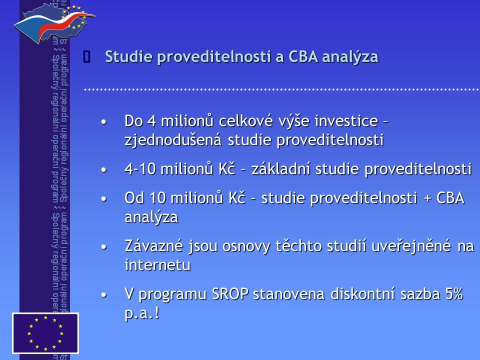 Do 4 milionů celkové výše investice – zjednodušená studie proveditelnostiDo 4 milionů celkové výše investice – zjednodušená studie proveditelnosti 4-1