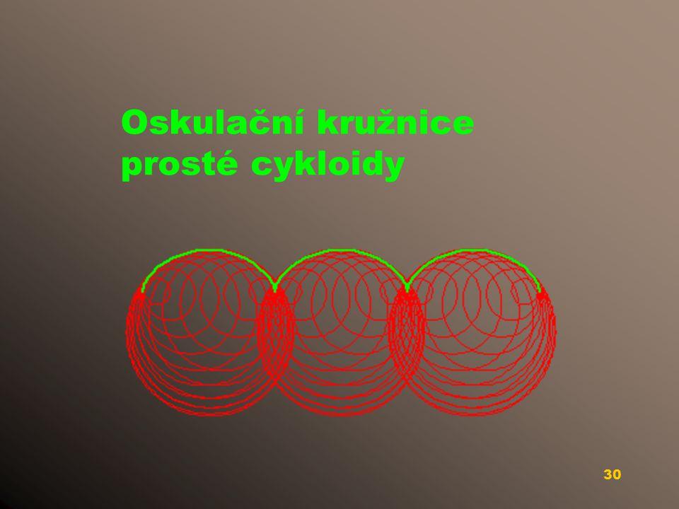 29 Oskulační kružnice Archimedovy spirály