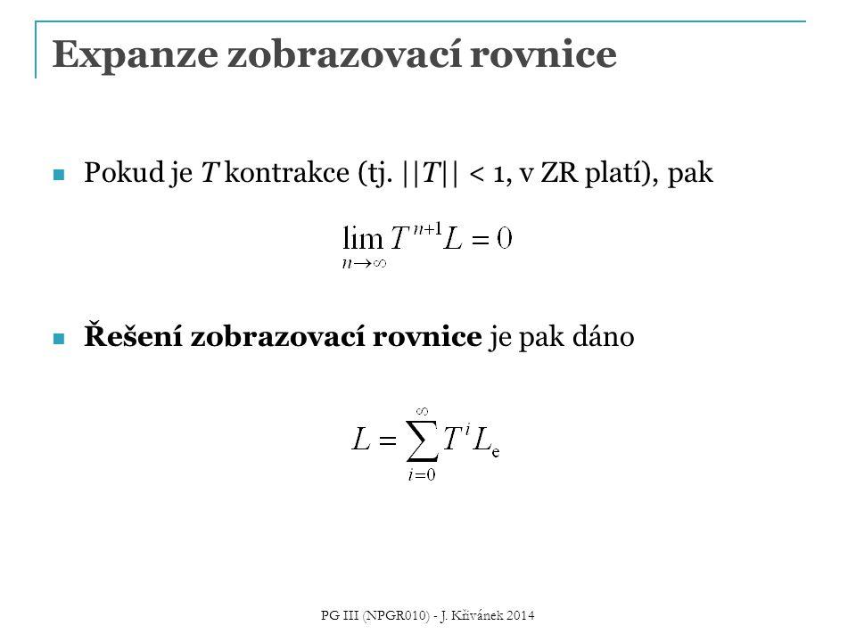 Expanze zobrazovací rovnice Pokud je T kontrakce (tj.