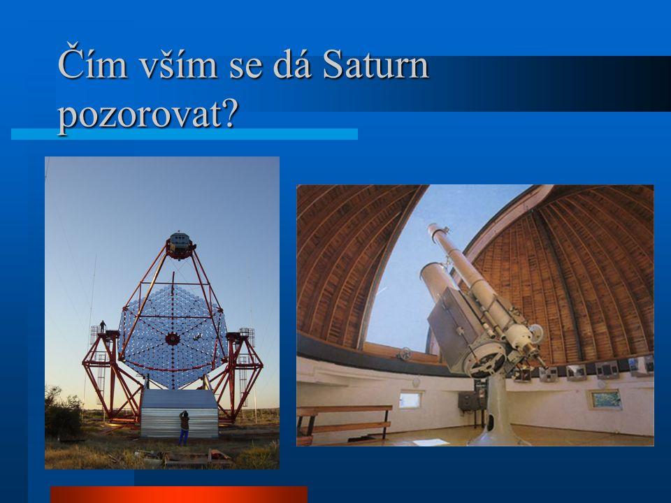 Saturn Saturnovy prstence jsou složeny především z částic vodního ledu o rozměrech od tisíciny milimetru až po desítky metrů.