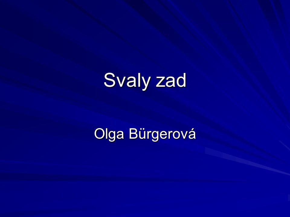 Svaly zad Olga Bürgerová