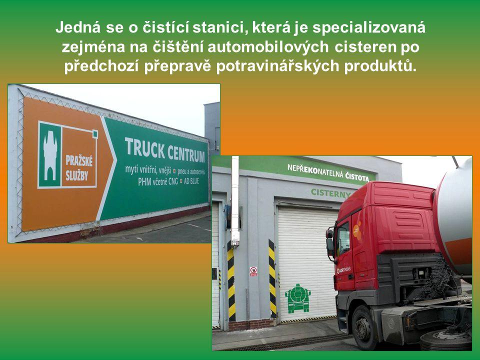 Jedná se o čistící stanici, která je specializovaná zejména na čištění automobilových cisteren po předchozí přepravě potravinářských produktů.