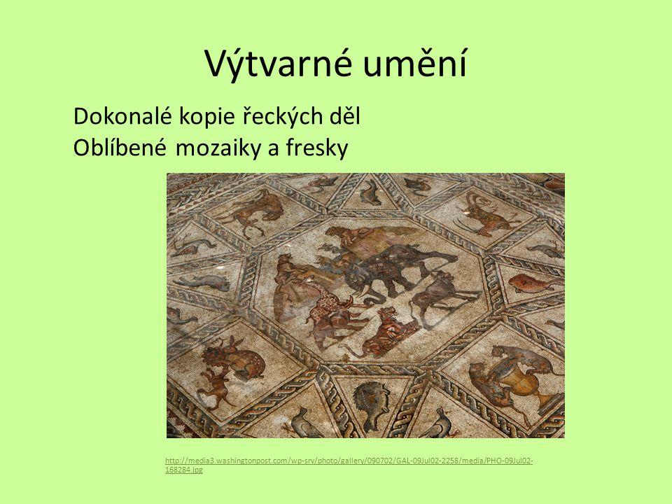 Výtvarné umění Dokonalé kopie řeckých děl Oblíbené mozaiky a fresky http://media3.washingtonpost.com/wp-srv/photo/gallery/090702/GAL-09Jul02-2258/medi