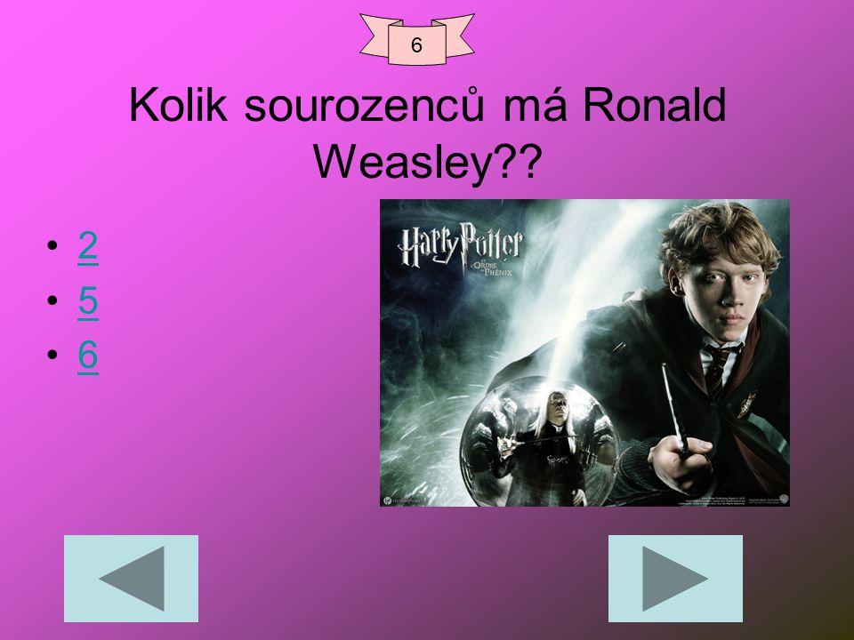 Kolik sourozenců má Ronald Weasley?? 2 5 6 6
