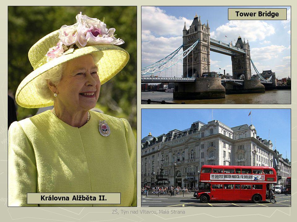 Westminsterský palác v Londýně - sídlo britského parlamentu. ZŠ, Týn nad Vltavou, Malá Strana