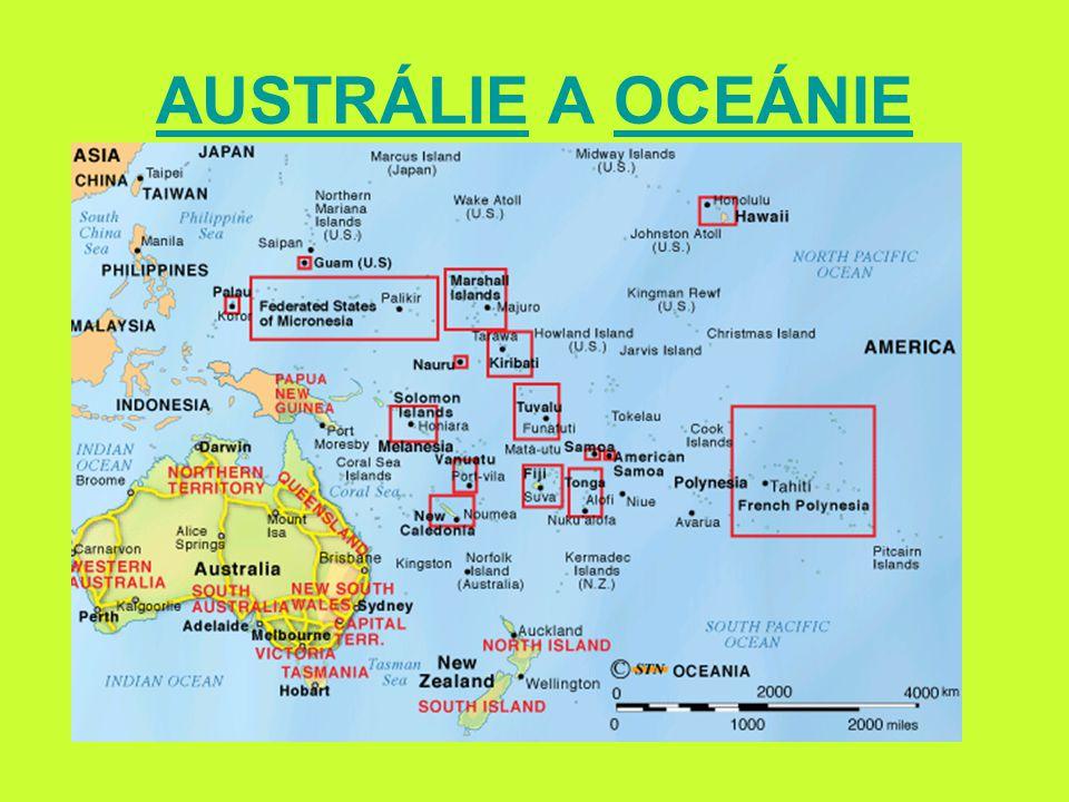 AUSTRALASIEAUSTRALASIE – státy vlajkaISO kódrozloha (km 2 ) počet obyvatel (2008) hlavní město Austrálie AUS 7,7 mil.21 mil.