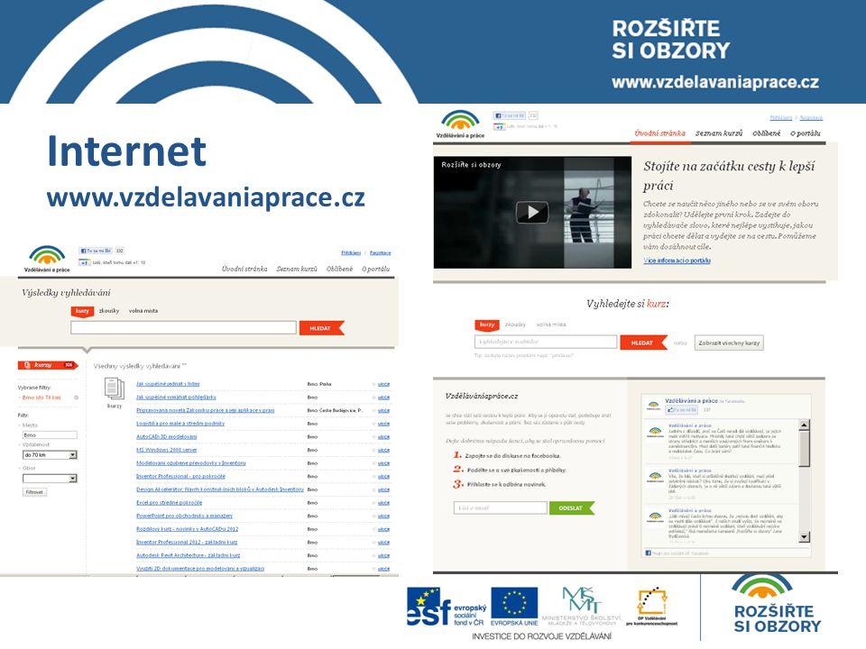 Internet www.vzdelavaniaprace.cz