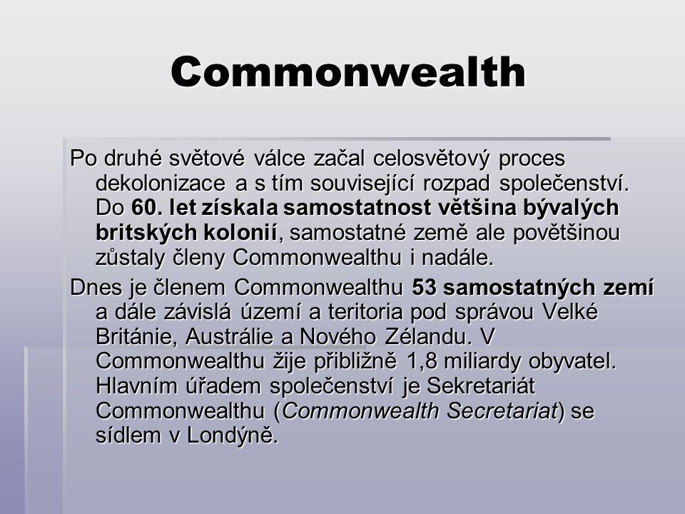 Commonwealth Po druhé světové válce začal celosvětový proces dekolonizace a s tím související rozpad společenství.