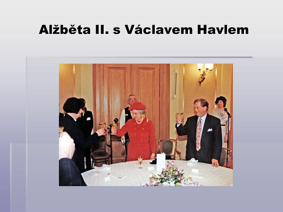 Alžběta II. s Václavem Havlem