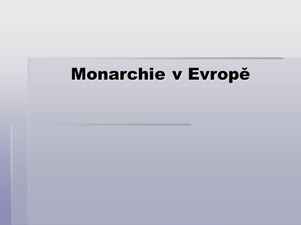Monarchie v Evropě