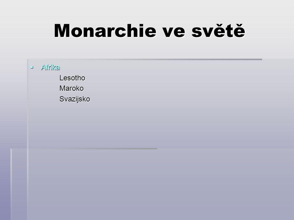 """Monarchie ve světě  """" Království britského Společenství AntiguaBahamyBarbadosBelizeGrenadaJamajkaKanada Sv."""