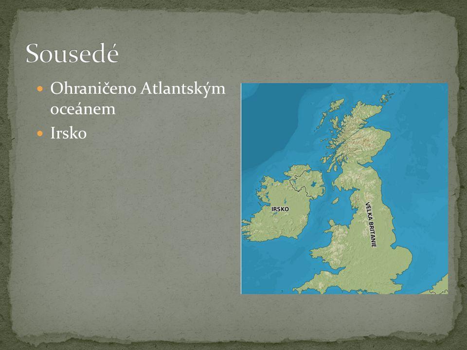 Ohraničeno Atlantským oceánem Irsko