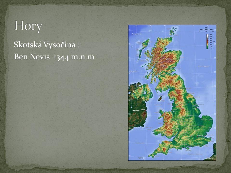 Skotská Vysočina : Ben Nevis 1344 m.n.m