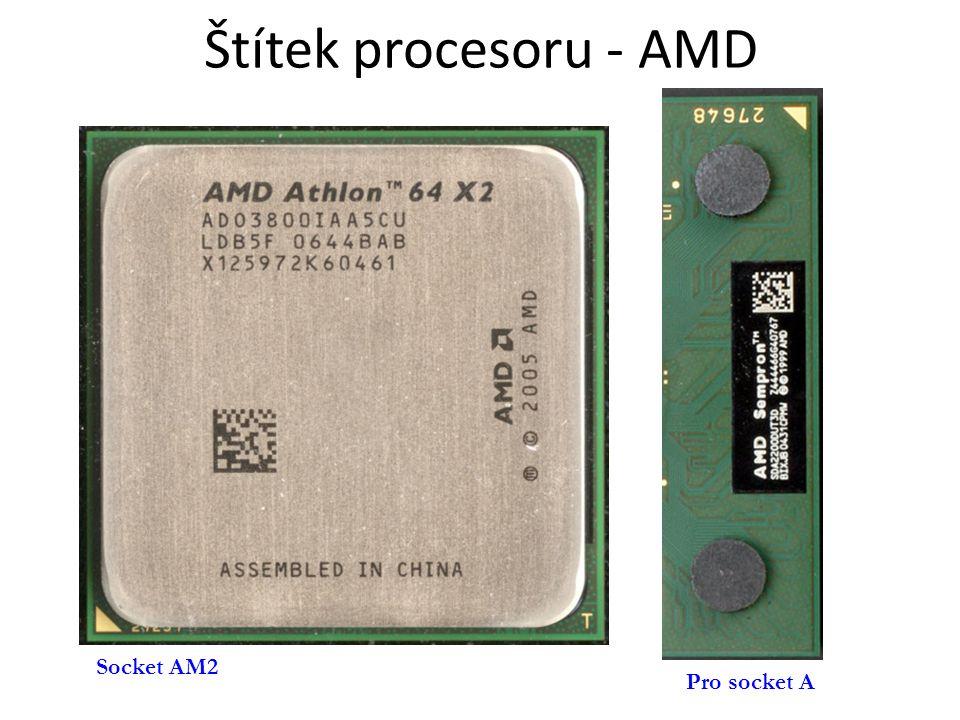 Štítek procesoru - AMD Pro socket A Socket AM2
