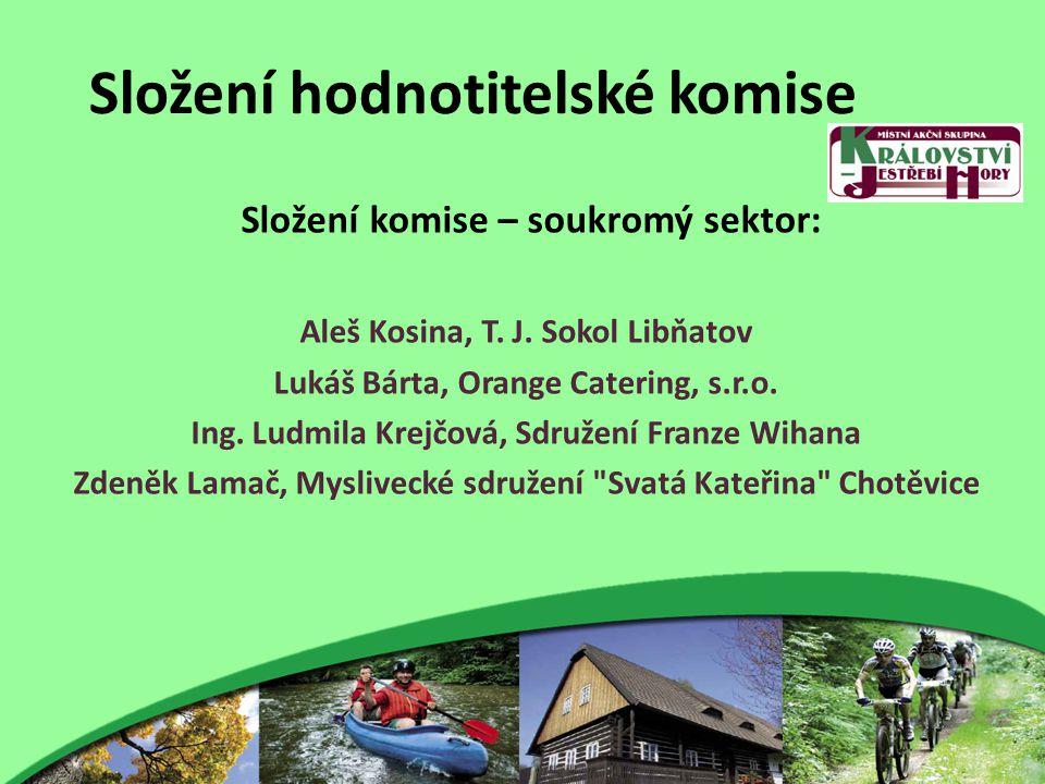 Složení hodnotitelské komise Složení komise – soukromý sektor: Aleš Kosina, T.