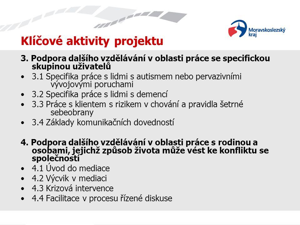 Klíčové aktivity projektu 5.