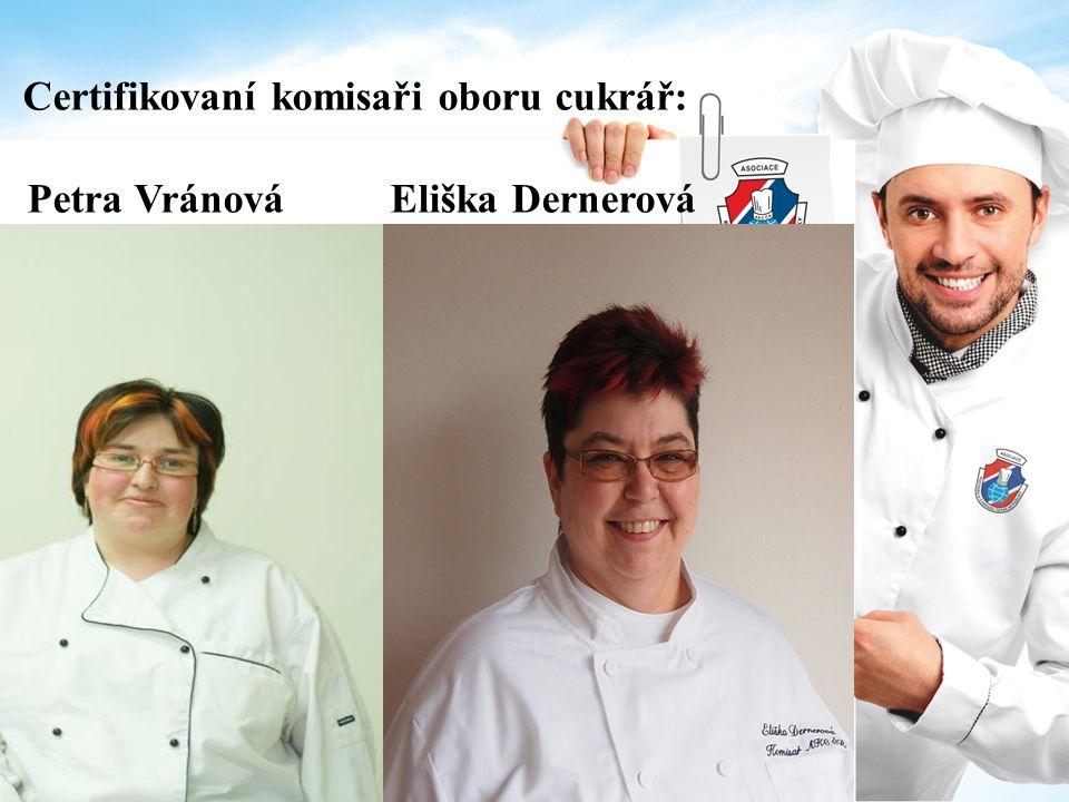 Certifikovaní komisaři oboru cukrář: Petra Vránová Eliška Dernerová