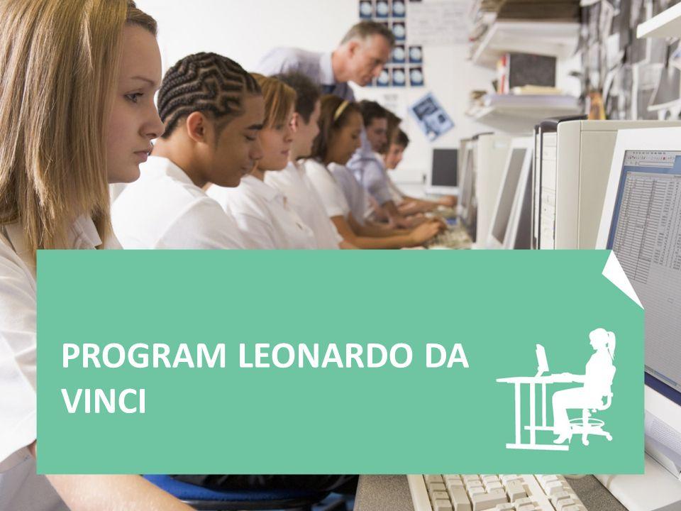 Program Leonardo da Vinci určen pro všechny osoby a instituce účastnící se odborného vzdělávání a přípravy na jiné než vysokoškolské úrovni aktivity: -Přípravné návštěvy -Projekty mobility (IVT, PLM, VETPRO) -Projekty partnerství -Multilaterální projekty / Přenos inovací