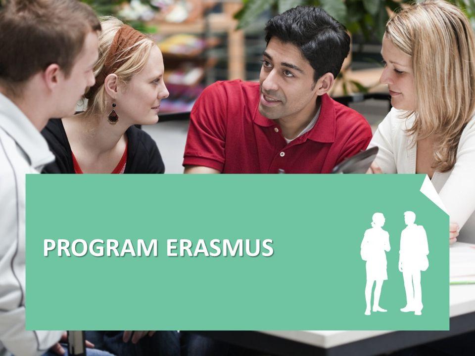 Program Erasmus určen pro pracovníky veřejných, státních a soukromých vysokých škol aktivity: -Přípravné návštěvy -Mobility studentů a vysokoškolských pracovníků -Intenzivní jazykové kurzy -Intenzivní programy