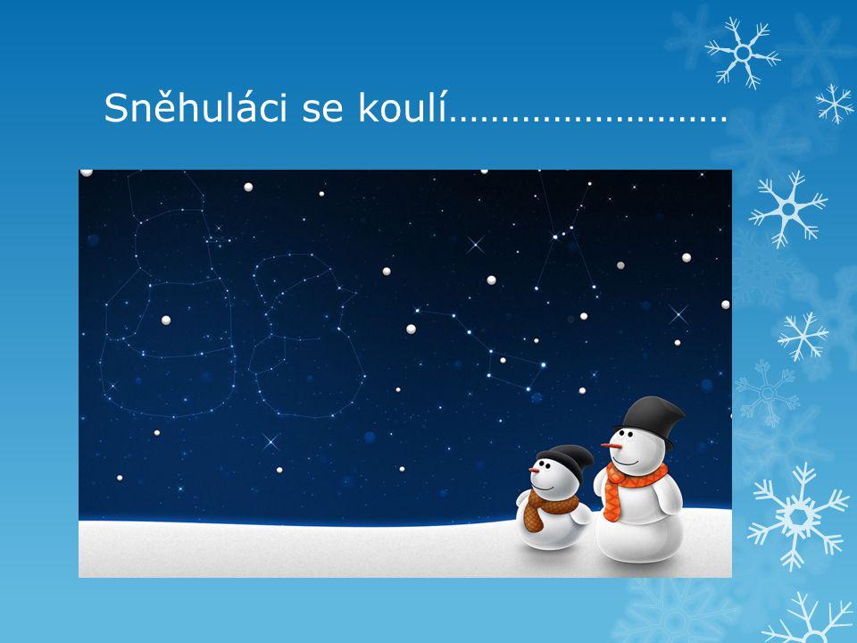 Sněhuláci se koulí………………………