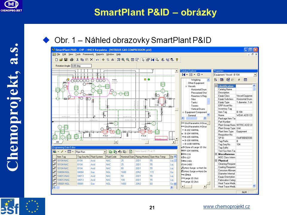 Chemoprojekt, a.s.www.chemoprojekt.cz 21 SmartPlant P&ID – obrázky  Obr.