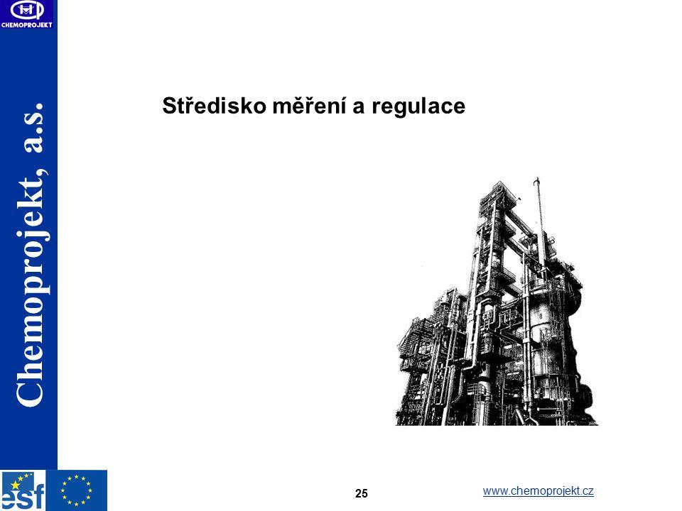 Chemoprojekt, a.s. www.chemoprojekt.cz 25 Středisko měření a regulace
