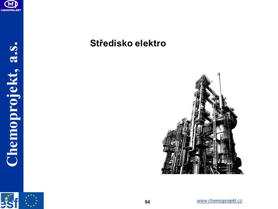 Chemoprojekt, a.s. www.chemoprojekt.cz 54 Středisko elektro
