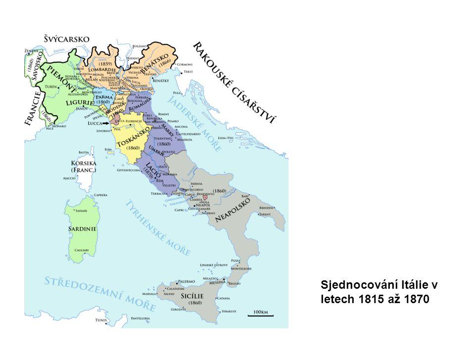Sjednocování Itálie v letech 1815 až 1870