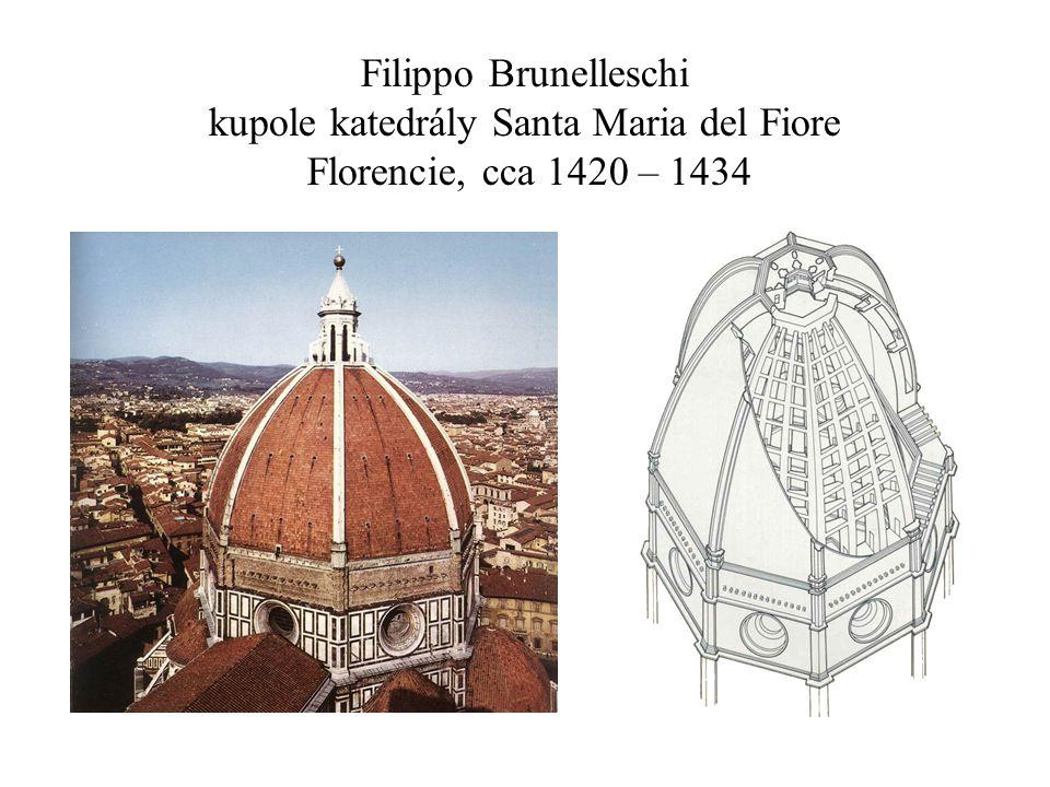 Filippo Brunelleschi kupole katedrály Santa Maria del Fiore Florencie, cca 1420 – 1434