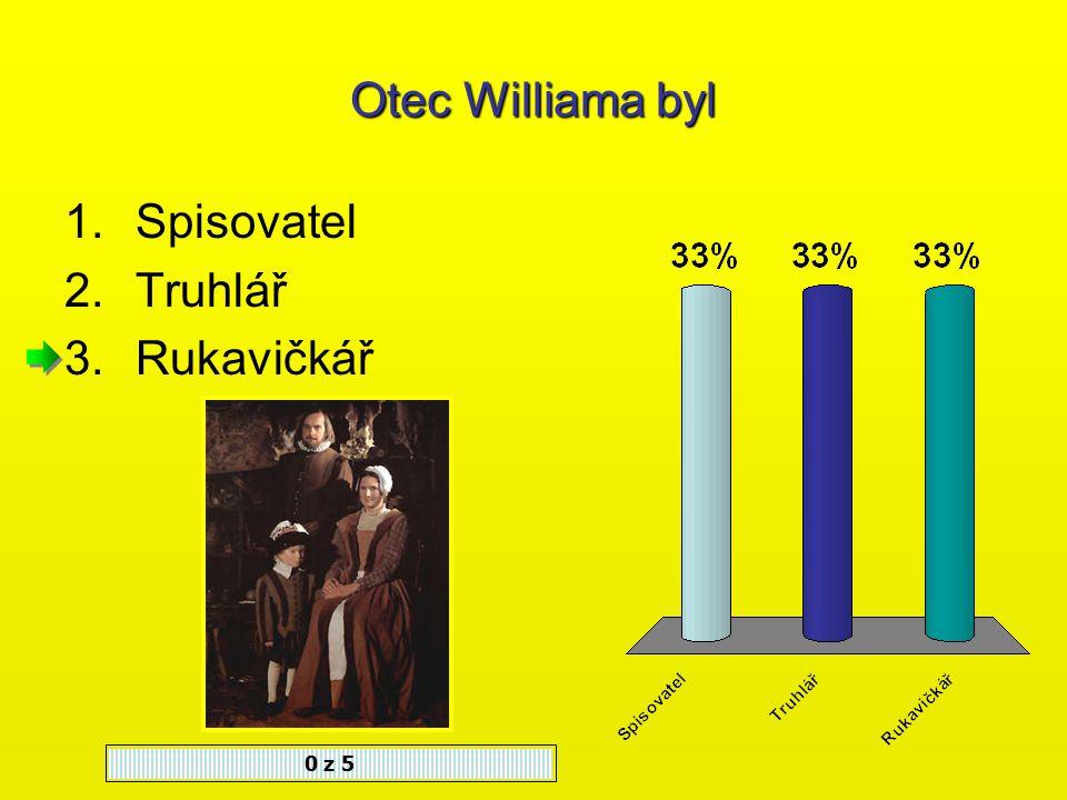 Z nabízených možností vyber tu, která odpovídá roku Shakespearova narození a úmrtí.
