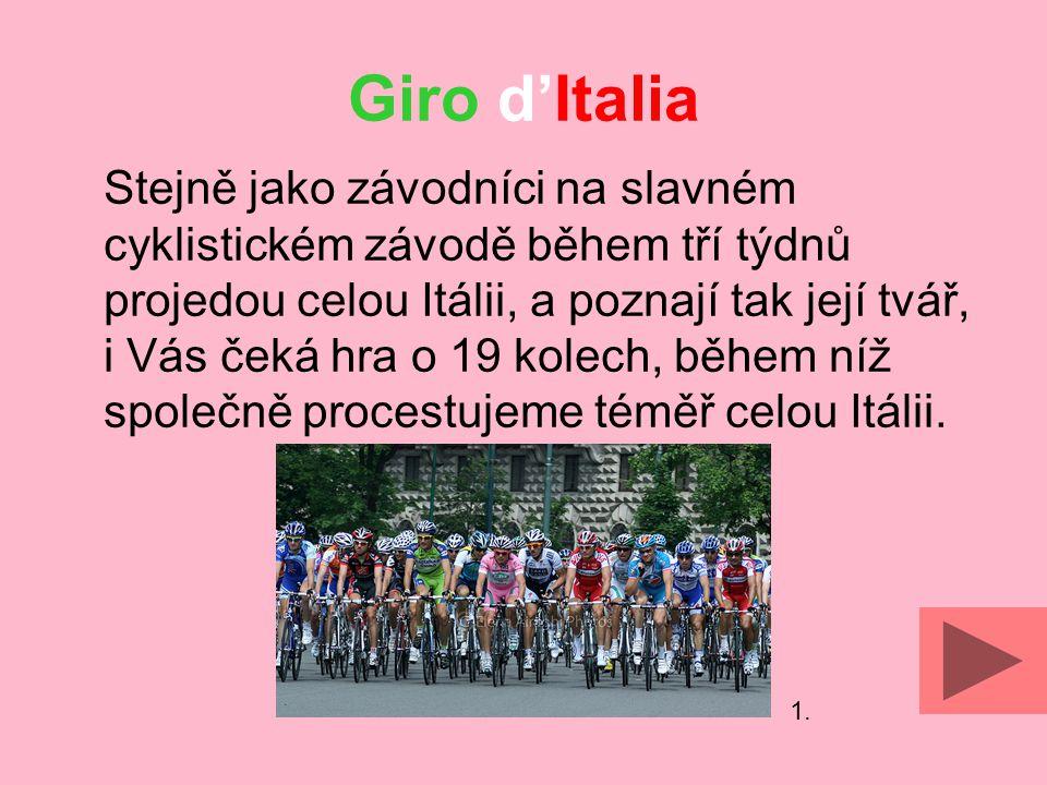Giro d'Italia Dostupné z Metodického portálu www.rvp.cz, ISSN: 1802-4785, financovaného z ESF a státního rozpočtu ČR.