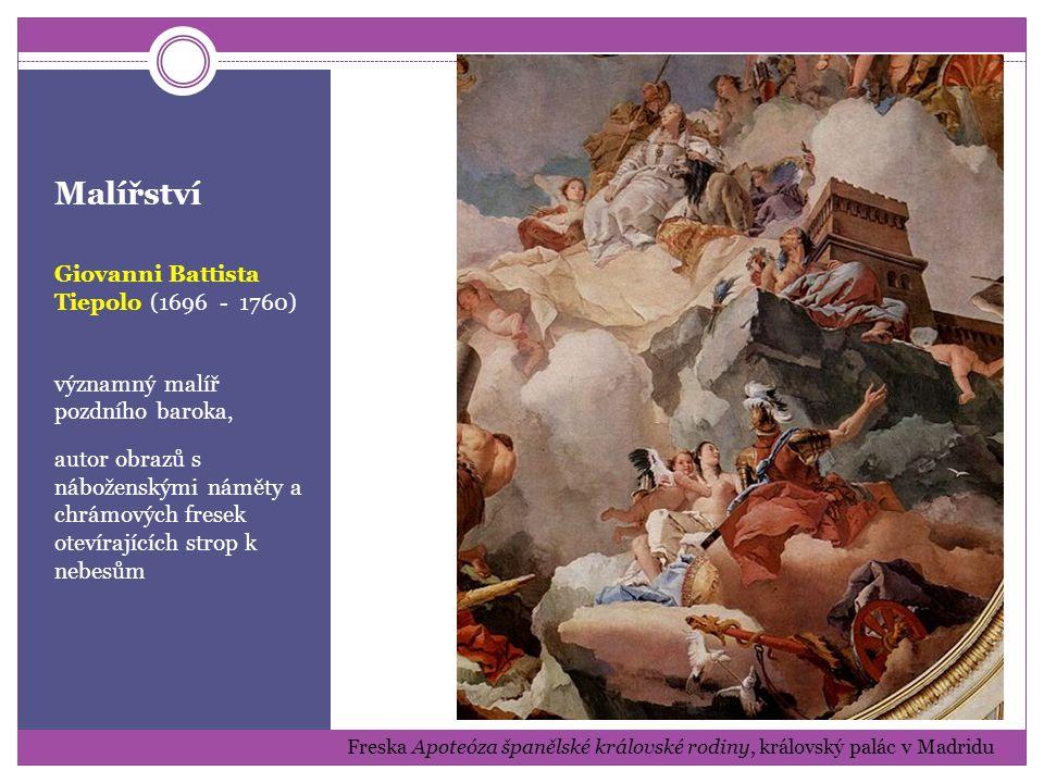Malířství Andrea Pozzo (1596 - 1669) malíř a architekt, známý grandiózními chrámovými freskami Nástropní freska Apoteóza sv.