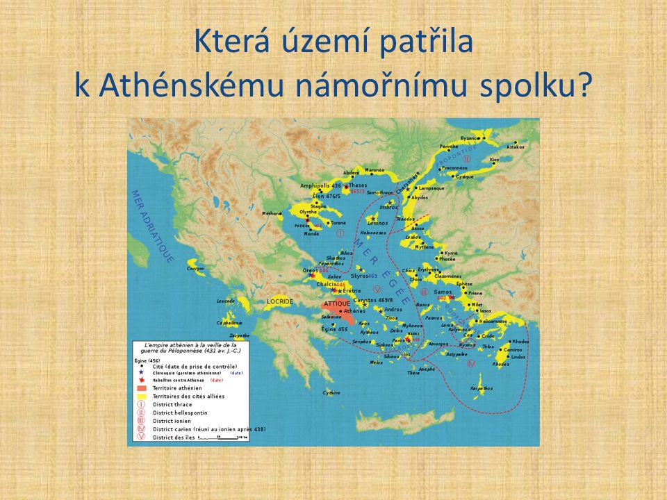 Která území patřila k Athénskému námořnímu spolku?