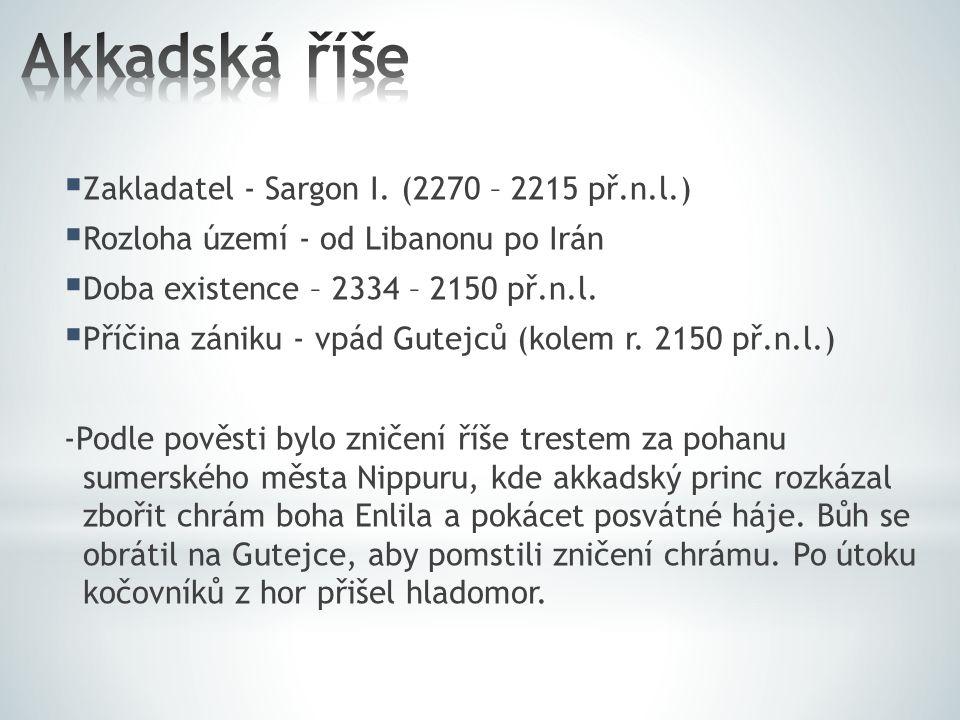  Zakladatel - Sargon I.