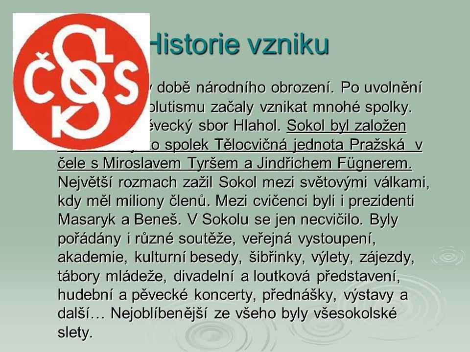 Historie vzniku Sokol vznikl v době národního obrození. Po uvolnění Bachova absolutismu začaly vznikat mnohé spolky. Mimo jiné i pěvecký sbor Hlahol.