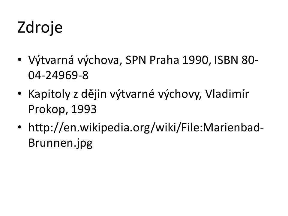 Zdroje Výtvarná výchova, SPN Praha 1990, ISBN 80- 04-24969-8 Kapitoly z dějin výtvarné výchovy, Vladimír Prokop, 1993 http://en.wikipedia.org/wiki/Fil