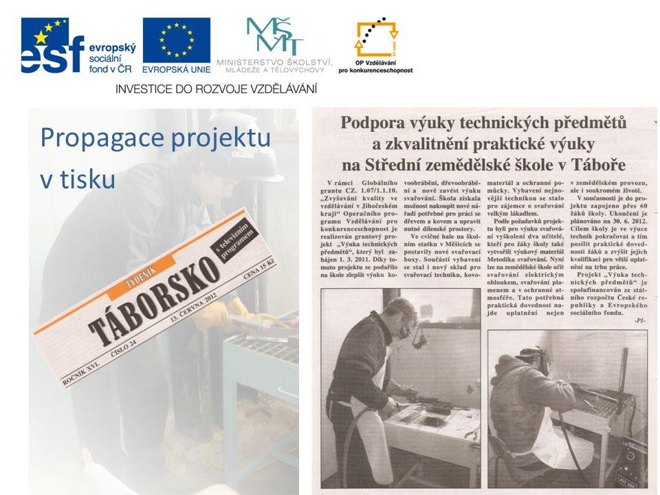 Propagace projektu v tisku