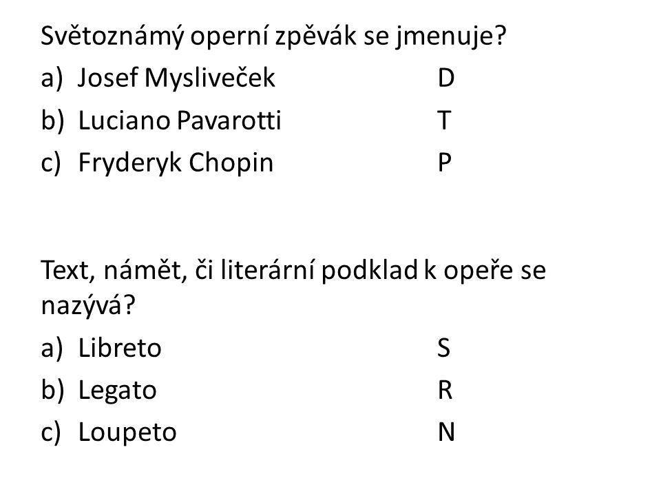 Světoznámý operní zpěvák se jmenuje.
