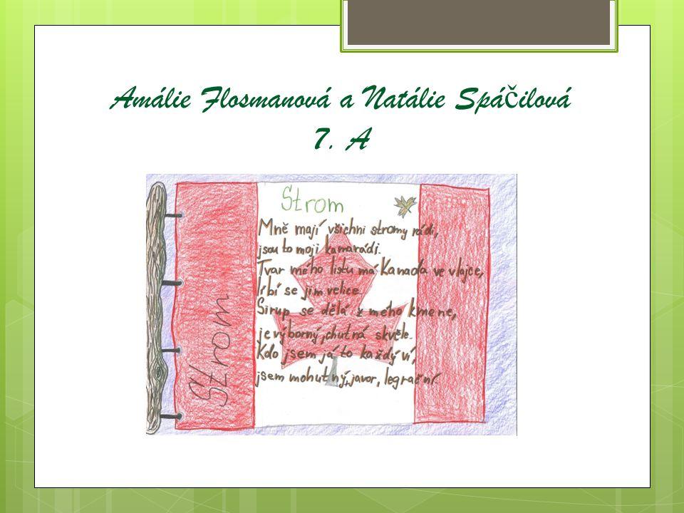 Amálie Flosmanová a Natálie Spá č ilová 7. A